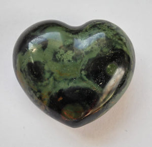Kambaba Stone Mini Puffy Heart aka Crocodile Jasper