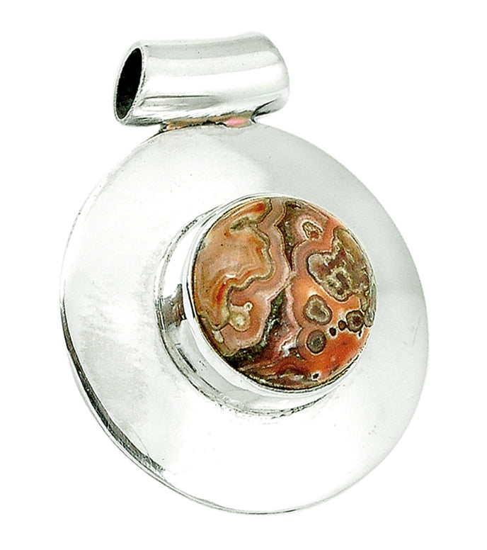 Laguna Crazy Lace Agate Pendant with tube bail