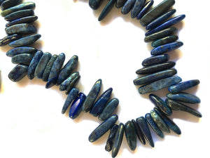 Lapis Lazuli Beads - Very tribal looking stick beads!