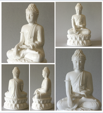 Load image into Gallery viewer, Seated Buddha Statue Blanc de Chine Porcelain Figurine Large