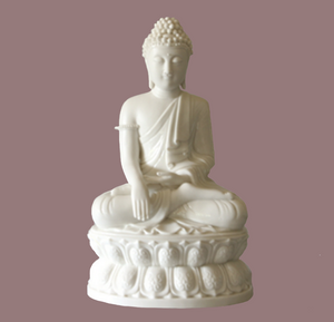 Seated Buddha Statue Blanc de Chine Porcelain Figurine Large