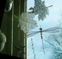 Load image into Gallery viewer, Dragonfly Suncatcher Mobile with Swarovski crystals