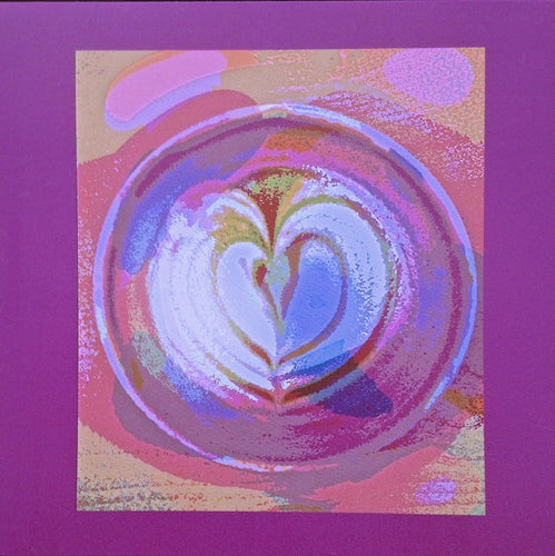Latte Love Square-Shaped Blank Greeting Card that is perfect for your Valentine