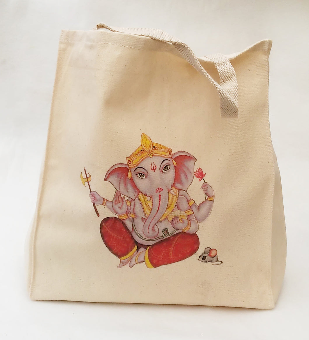 Ganesh Grocery Bag - Cotton Tote Bag