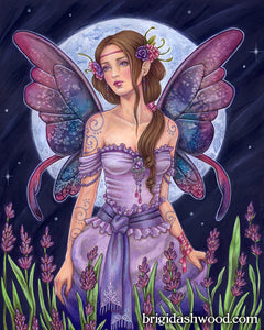 Lavender Moon Fairy Print by Brigid Ashwood 16x20