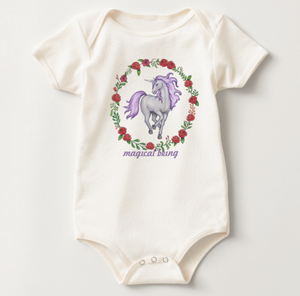 Unicorn Onesie American Apparel Organic Cotton Jersey Body Suit 3-6 Months Old