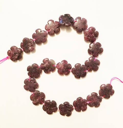 Purple Lepidolite Beads Flower Power!