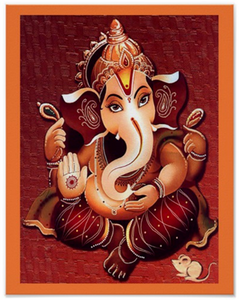 Lord Ganesha Art Poster in sumptuous earth hues