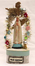 Load image into Gallery viewer, Feliz Navidad Holy Mother Candy Box - handmade work of art