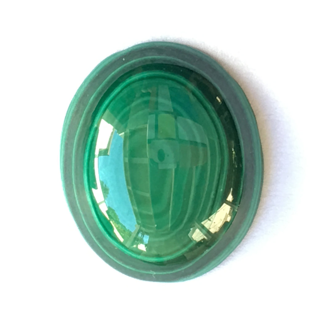 Malachite Cabochon with Bull's Eye