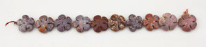 Fancy Jasper Beads in Flower Power shapes