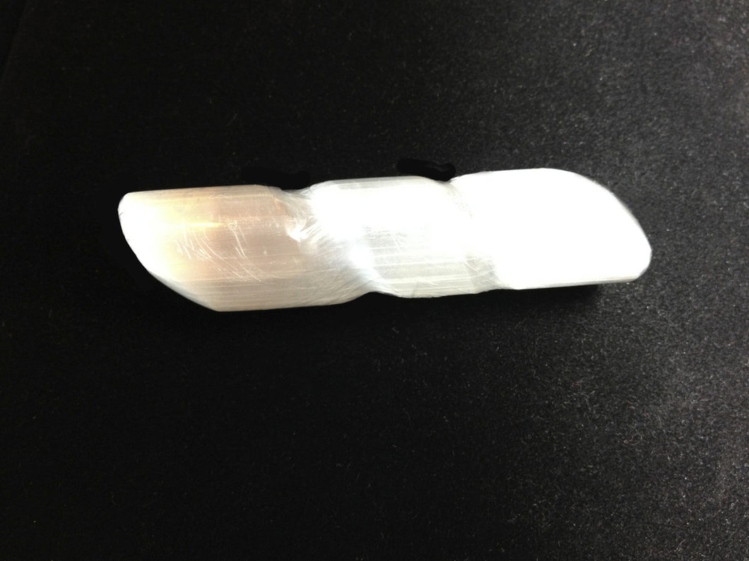 Selenite Crystal Spiral Massage Wand