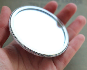 Marie Antoinette Pocket Mirror 3 inch big, but very lightweight!