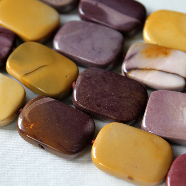 Mookaite Jasper beads, One strand of 18x25mm Oblong Beads