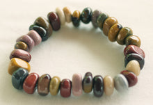 Load image into Gallery viewer, Mookaite Jasper Bracelet of strung polished pebbles