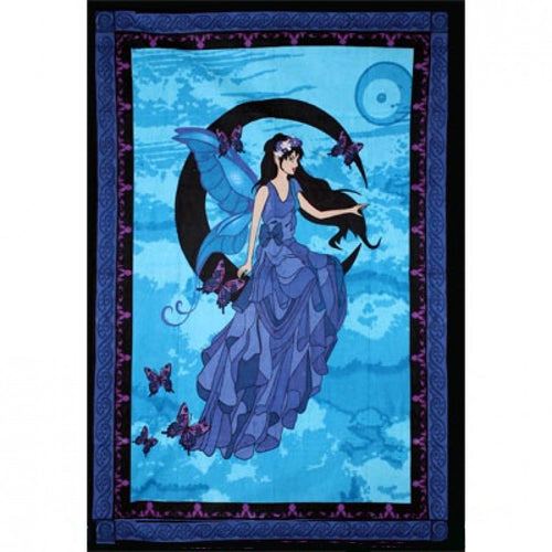 Moon Fairy Cotton Tapestry