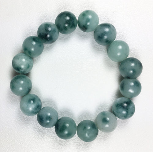 Green Moss Agate Round 13mm Beads - B Grade Quality