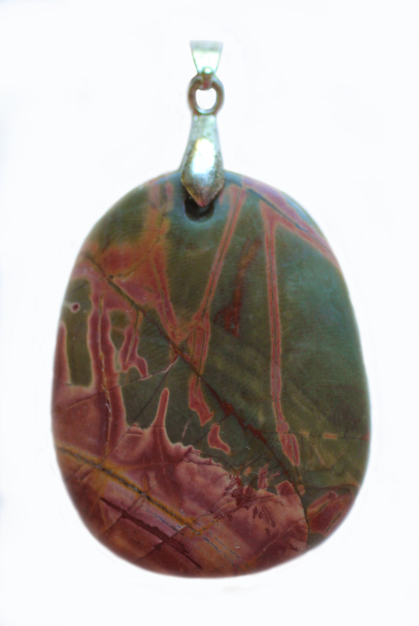 Picasso Stone Jasper Pendant for Resolution, Healing and Relief from Worry