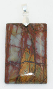 Picasso Stone Pendant domed rectangle