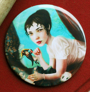 Napoleon and Josephine Pocket Mirror 3 inches big, but very lightweight!