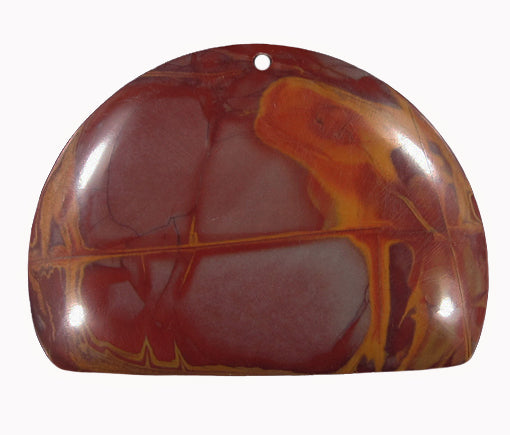 Noreena Jasper bead in Dome-Shape