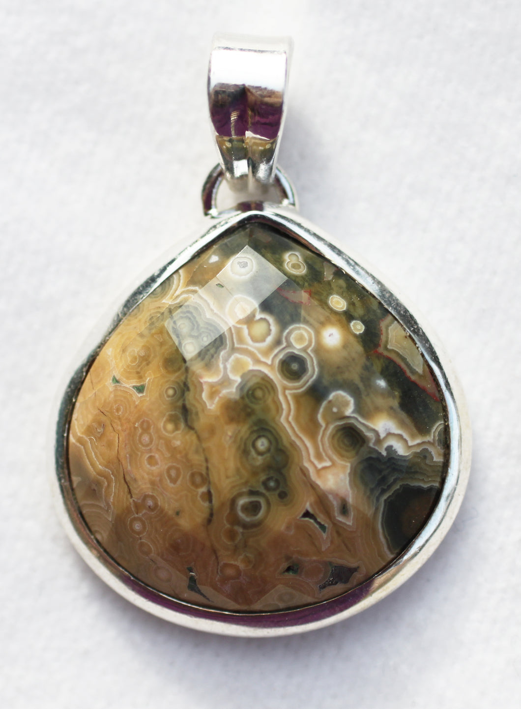 Ocean Jasper Pendant with great definition