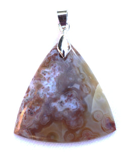 Ocean Jasper Pendant in Triangular Shape