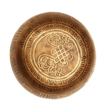 Load image into Gallery viewer, Tibetan Singing Bowl Old Hand-Forged Brass decorated inside and out