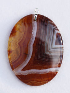 Dragon Veins Agate Pendant in a coffee color