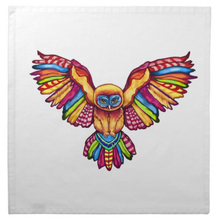 Load image into Gallery viewer, Psychedelic Owl Cotton Tarot Cloth