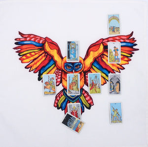 Psychedelic Owl Cotton Tarot Cloth