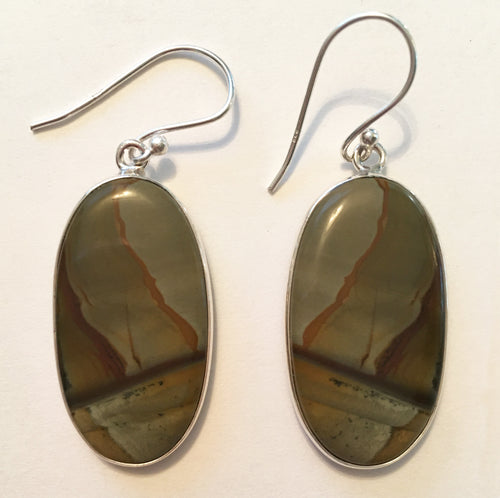 Owyhee Picture Jasper Earrings