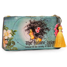 Load image into Gallery viewer, Future Beauty Small Tassel Accessory Pouch by Papaya Art!