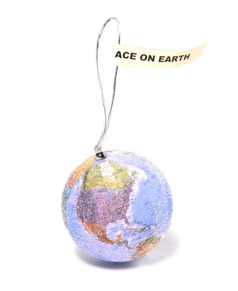 Peace on Earth Ornament Glittered Globe