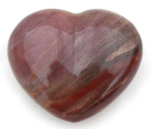 Petrified Wood Heart Crystal