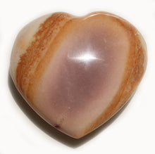 Load image into Gallery viewer, Mookaite heart  1-1/3 inch little pocket-sized puffy heart for artistic success, poise, confidence