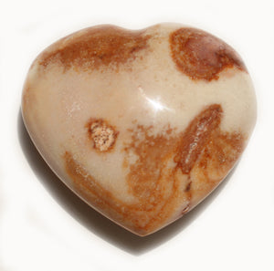 Mookaite heart  1-1/3 inch little pocket-sized puffy heart for artistic success, poise, confidence