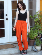 Load image into Gallery viewer, Tienda Ho Pumpkin Orange Cotton Rayon Moroccan Casual Pants in Sonya Design - One Size OS