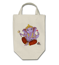 Load image into Gallery viewer, Ganesh Grocery Bag - Cotton Tote Bag