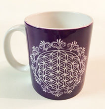 Load image into Gallery viewer, Purple Flower of Life Coffee Mug