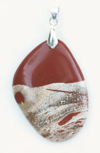Rainbow Jasper Free-Form Shaped Pendant Brings Out Your Inner Kevin Kline, Stephen Fry or Alec Baldwin