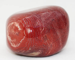 Red Snakeskin Jasper Gallet - big polished piece like a paperweight