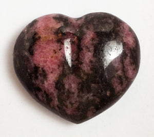 Rhodonite Puffy Heart - translucent 32mm