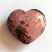 Load image into Gallery viewer, Rhodonite Puffy Heart 31mm