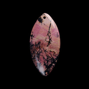 Rhodonite Focal Bead for Musicians and Linguists