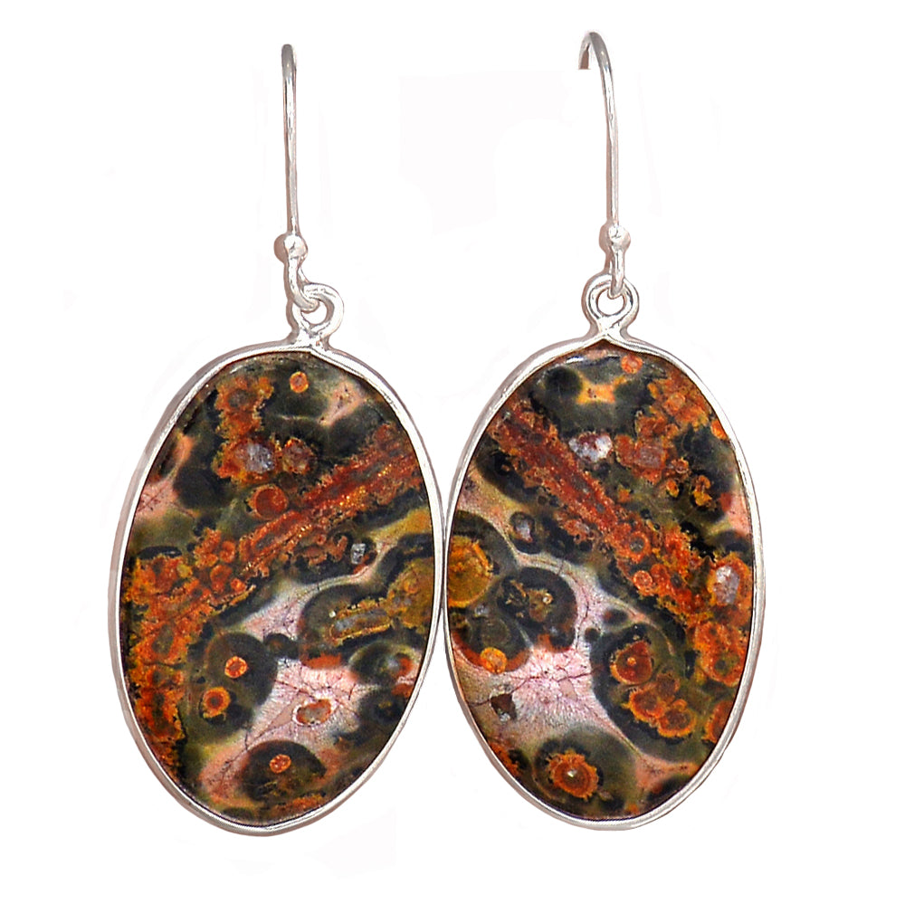 Rhyolite aka Leopard Skin Jasper Earrings