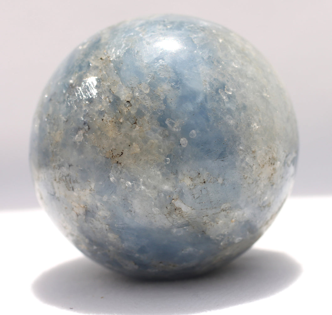 Blue Calcite Sphere for Easier Detox - Put in your Bath or Foot Bath!