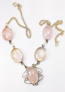Rose Quartz from Madagascar 5 Cab Necklace in Sterling Silver - Put the Love Where You Want It Most