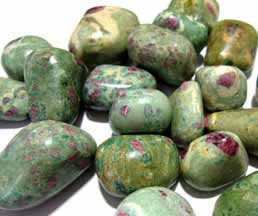 Ruby Fuchsite tumbled pocket stone 1/2 oz