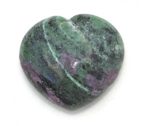 Ruby Zoisite Puffy Heart 1.5 inches